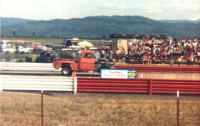 57 Chevy at drag races 1982